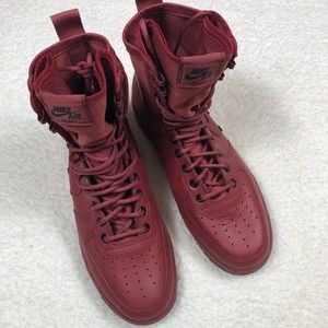 Women's Nike SF AF1 Boots Oxy Blood